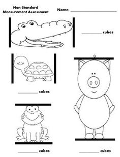 Here is a simple, yet effective way to assess students understanding of non-standard measurement. On this assessment students will measure pictures of cartoon animals with cubes and plain straight lines with paperclips.