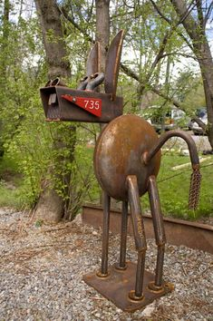 Metal Welding Sculpture: A Donkey Mail Box and Stand! Metal Yard Art, Scrap Metal Art, Metal Welding, Welding Art, Welding Tools, Welding Ideas, Diy Tools, Welding Crafts, Cool Welding Projects