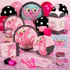 Baby Pink Panther party for a baby girl!