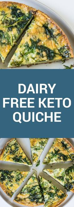 This tasty, dairy free keto quiche is the perfect breakfast, packed with all the healthy fats you need to start your day off right. | #keto #KetoLifestyle #WeightLoss #FatLoss #Health #Healthy #HealthyLiving #HealthyLifestyle