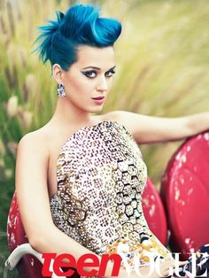 Katy Perry Maybe a faux updo for short hair