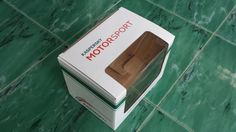 E flute corrugated printed box with clear window