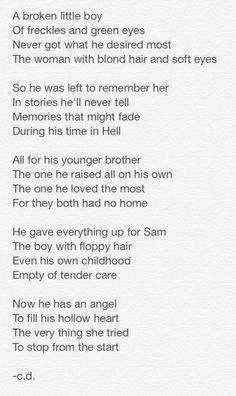 Supernatural Poem - Dean