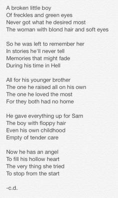 Supernatural Poem - Dean