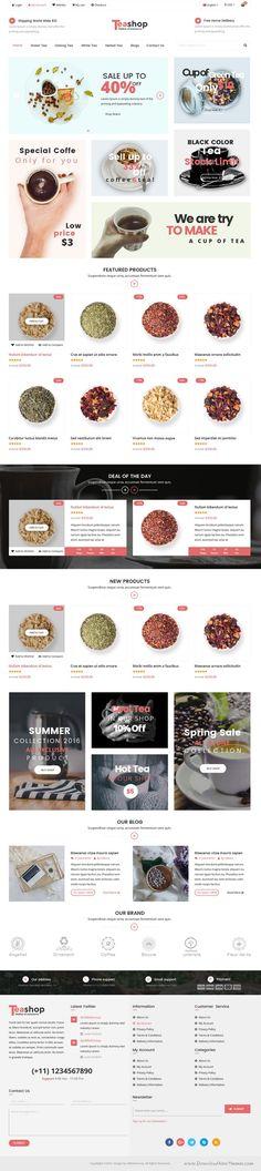 TeaShop is wonderful premium PSD Template for multipurpose eCommerce #website. #tea #shop Download Now!