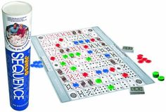 Jax Jumbo Sequence Tube Game - Jax provides the family favorite game of SEQUENCE in a JUMBO size! Complete with a large 27 x 32 inch cushioned playing mat and reversible jumbo chips.