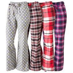 Sonoma Women's Flannel Pajama Pants - women pajamas Satin Pyjama Set, Pajama Set, Pyjamas, Flannel Pajama Pants, Pj Pants, Sleep Pants, Plaid Flannel, Cute Pajamas, Pajamas For Women