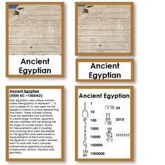 History of Numbers Five Part Cards