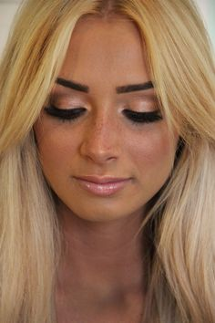 facial natural freckle makeup... so pretty