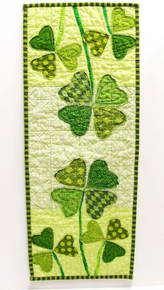 Table runner for St. Patrick's Day
