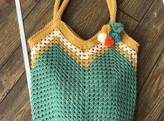 Koton İp ile Çanta Yapımı Crochet Handbags, Straw Bag, Crochet Top, Diy And Crafts, Knitting, Handmade, Women, Summer Blouses, Crochet Purses