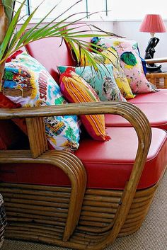 How I'd like my repurposed cane furniture to look...