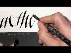 ▶ Calligraphy TV sample 1 by Denis Brown of Dublin Ireland.  Denis is considered a prodigy in the calligraphy world, and has perfected his characteristic style, using quick, energetic pen strokes to create rhythm and energy in his lettering.