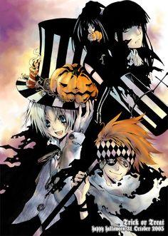 D. Gray-Man Halloween; Allen, Lavi, Lenalee, Kanda