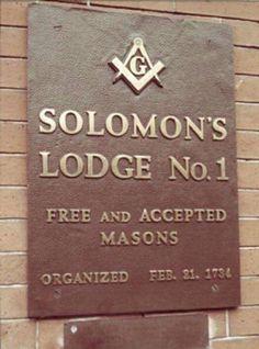 Solomon's Lodge No.1 - Free and Accepted Masons #Freemasonry