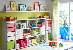 Muitas dicas e mais de 17 ideias para organizar quartos infantis.
