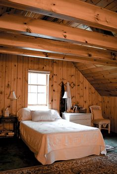 i want a wooden room in my house... looks so rich & warm & snuggly :)  Help My Mom Decide: The Great Wood Paneling Debate