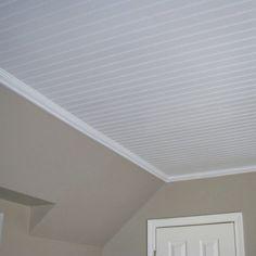 14 Ways to Cover a Hideous Ceiling beadboard-porch-ceiling 14 Ways to Cover a Hideous Ceiling beadbo Shiplap Ceiling, Porch Ceiling, Home Ceiling, Bedroom Ceiling, Wood Ceilings, Ceiling Decor, Ceiling Design, Bathroom Ceilings, Drop Ceiling Basement