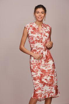 Buy Ecru/Rust Print Pocket Shirt Dress from Next Israel Jaquard Dress, Online Discount, Evening Dresses, Formal Dresses, Fall Skirts, Party Dresses For Women, Spring Summer Fashion, Shirt Style, Designer Dresses