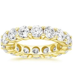 18K Yellow Gold Diamond Eternity Ring (4 3/4 ct. tw.) from Brilliant Earth