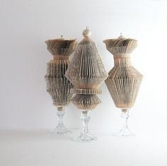 Paper Cog Book Sculptures  Ode to a Grecian Urn by bookBW on Etsy, $178.00