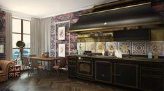 4 สตูดิโออพาร์ทเม้นท์ขนาดเล็กตกแต่งในสไตล์ที่แตกต่างใน 50 ตรม.   fPdecor.com   ศูนย์รวมแบบบ้านฟรี และตกแต่งภายใน