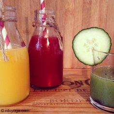 www.rdvyoga.com - 3 jus verts pour un max d'énergie. Recettes... #vegan #juice #smothie #detox