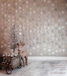 6ft/12ft 2.5inch-8inch Paper Snowflake Garland Silver von CSarber