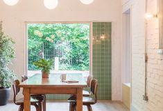 homeless refuge - Shelter from the Storm - Islington, London - Holland Harvey - 2019 Storm London, Round Pendant Light, Building Front, White Wash Brick, Exposed Concrete, Terracota, North London, Color Tile, Architect Design