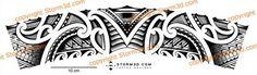 hi res tattoo knee maori band design koru