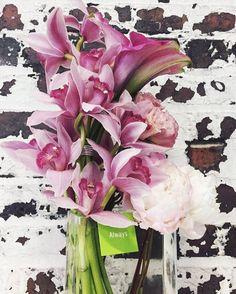 #tropicaltuesday 🌸 #alwaysflowersevents #local #fresh #florist #cymbidium #orchids #minicallas #peonies