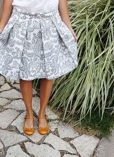 Pleated Pencil Skirt Tutorial by Sarah at Clothed Much Modest Fashion Blog