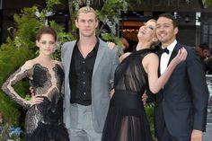Kristen Stewart, Chris Hemsworth and Charlize Theron ...