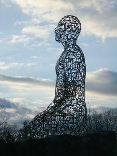 Tolerance sculptures by Jaume Plensa via houston.culturemap
