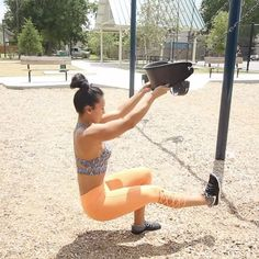 """3,744 Likes, 105 Comments - Carmen Morgan (@mytrainercarmen) on Instagram: """"Park Swing WorkoutPerfect for when you're taking kiddos out to play or just as a way to get…"""""""