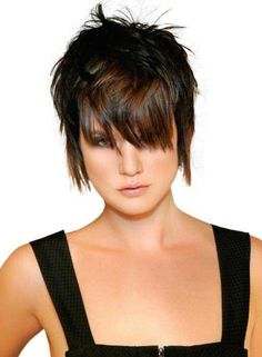 Short Layered Shag Hairstyle
