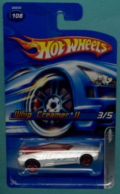 Mattel Hot Wheels 2005 1:64 Scale White Whip Creamer II Die Cast Car #108 $0.40
