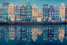 The Netherlands and especially Amsterdam is recognised for its use of canal houses. This is an old dutch architecture, which is not used anymore because of the high costs to build it. You can find them a lot near the canals in Amsterdam and Rotterdam.