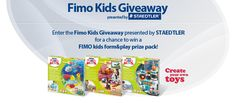 Our Fimo Kids Giveaway presented by STAEDTLER has begun! This is your chance to win free FIMO kids form&play sets! Enter daily now through August 31, 2016 for more chances to win!