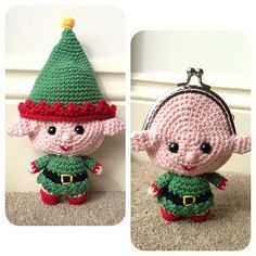 This elf purse is the perfect way to gift some Christmas pocket money or for filling with sweets! His head is hollow but the body section is stuffed.