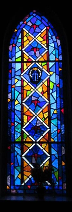 Faceted Glass Windows at Mount Calvary Baptist Church in Hartford, CT