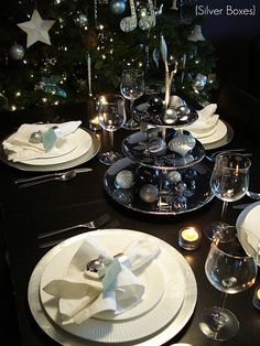 A Christmas tablescape