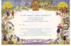 Special tribute that Guiding units sent to Queen Elizabeth on her Coronation