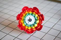 DIY  origami flower clock DIY Origami DIY Craft