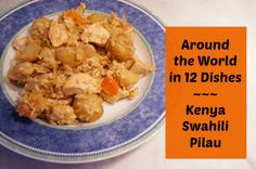 swahili pilau - traditional meat and rice dish from Kenya - delicious one pot meal. #recipe #chicken