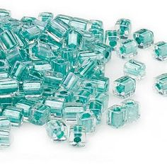 Miyuki square beads reflect light in every direction and add interesting dimensions and texture when mixed with round beads. Each square bead measures approximately and is a perfect complement to seed bead work.A package can contain approximately beads. Bugle Beads, Seed Beads, Bullet Journal Lists, Modern Stained Glass, Beaded Jewelry Patterns, Color Lines, Round Beads, Glass Beads, Teal