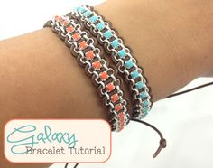 DIY Woven Rhinestone Chain Bracelet Tutorial from Loose Ends here.Really easy to understand tutorial. First seen at Flamingo Toes here.
