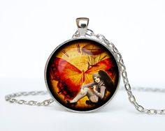 Steampunk pendant Steampunk necklace by RainforestNecklaces, $14.50