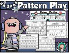 WINTER PATTERN PLAY  combines pattern instruction and identification with skills your students are working to master--phoneme identification; distinguishing and drawing 2-D shapes; colors; one-to-one correspondence; and skip counting. Check out the {PREVIEW}, or visit us here, to see how we put it all together.**Pattern Play Boards and Tiles provides hands-on pattern building and instruction.