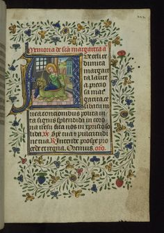 Illuminated Manuscript, Book of Hours, St. Margaret [and a dragon], Walters Manuscript W.168, fol. 222r. Walters Art Museum Illuminated Manuscripts flickr http://www.flickr.com/photos/medmss/